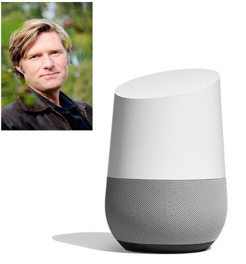 LOKAL STEMME: Erik Hesby Johnsen har hjulpet Google med stemmekommandoene på deres nyhet Google Home.