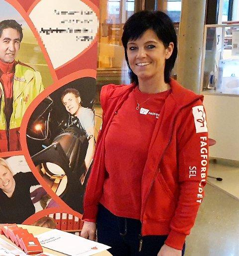 Nina Grindstuen er hovedtillitsvalgt og leder i Fagforbundet Sel.
