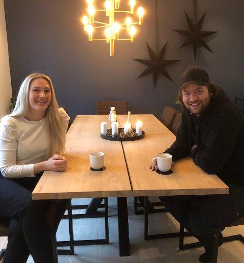 NYTT HUS: Thomas Stride kjøpte tomt på Lundeby i 2013. Først dette året kunne han og samboer Natalie Alvarstein flytte inn.