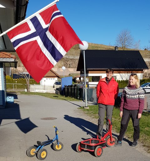 ÅPNET BARNEHAGEN: Ansatte ved Galleberg barnehage åpnet dørene i dag etter å ha jobbet frivillig denne helgen.