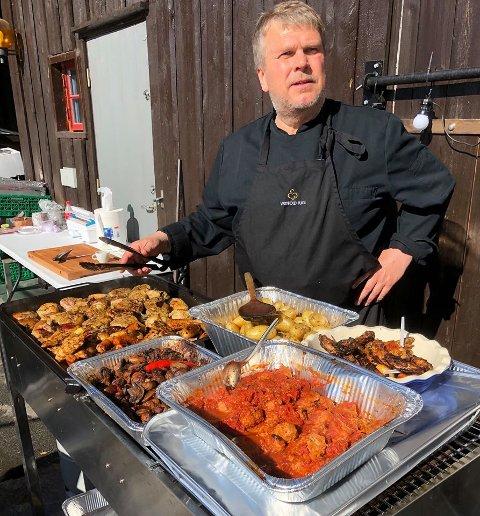 DAGLIG LEDER: Knut Geir Hansen driver Kilen Catering, og er spent på hvordan november og desember for cateringselskapet. August, september og oktober var veldige gode måneder.