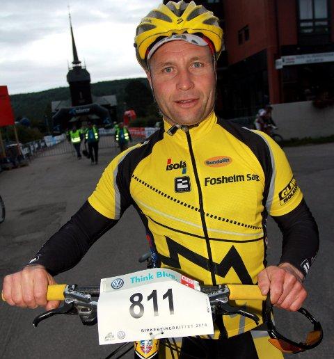 Vant: Eivind Fosheim fra Vestre Slidre ble nummer 30 totalt, men vant sin klasse 55 - 59 år under Grenserittet i helga.
