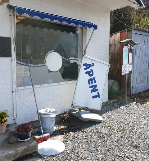 NOK EN GANG: For tredje gang siden mai 2019 har Villfisken i Ådal blitt utsatt for innbrudd. Samtlige innbrudd er gjennomført etter samme mønster og med samme ransutbytte.