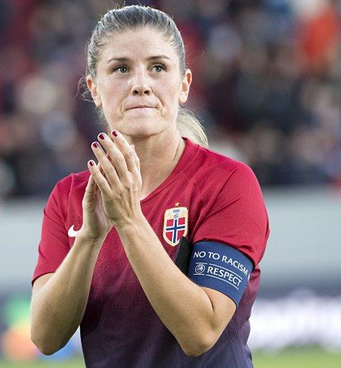 Maren Mjelde rundet 150 landskamper for Norge.