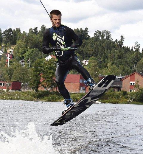 Ragnvald Balch Barth: Presterte godt i sin første wakeboard-konkurranse.