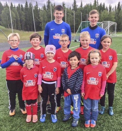 Marius Strømstad og Eskild Forsmo var trenere på dette laget.