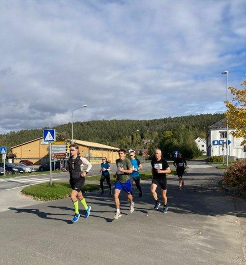 Konkurranse: Fem løpere stilte til start i konkurranseklassen under årets utgave av Snåsamila.