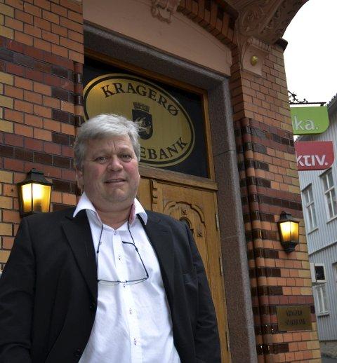Ny sjef: Jon Guste Pedersen blir ny administrerende direktør hvis de to bankene blir fusjonert.