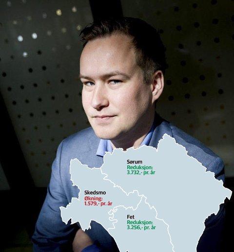 Fremmet forslag: Skedsmo-politiker Glenn Nerdal (Frp) fremmet forslag om at ingen av innbyggerne i den nye storkommunen skal få høyere gebyrer enn i dag. Foto: Tom Gustavsen
