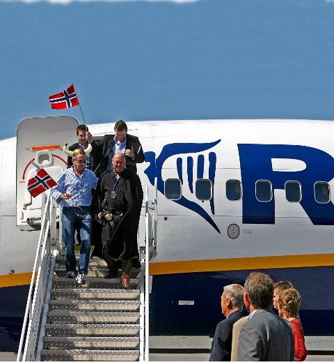 PÅ VEI TIL RYGGE IGJEN? Ryanairs Michael O´Leary vurder nå Rygge-comeback.