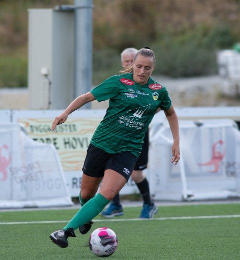 PÅ SCORINGSLISTA: Silje Torvanger (29) sette inn 2-0 målet til Kaupanger då Avaldsnes 2 blei slått 2-1 måndag kveld.