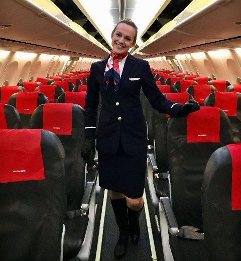 LEVDE DRØMMEN: Tuva Henrikhaugen har siden barnsben av drømt om å jobbe som flyvertinne. Drømmen ble kortlevd da hun mistet jobben etter kun ett år i lufta.