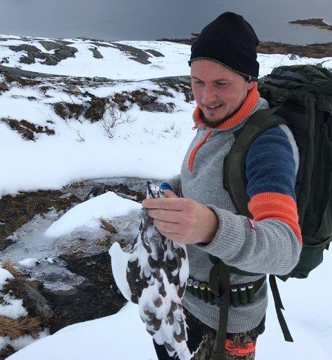 Kristian Müller skjøt sin første rype da han  var 12 år gammel. Jaktinteressen har han hatt med seg gjennom hele livet.