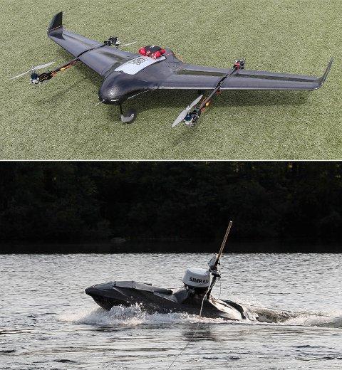 Cloudjumper (øverst) og Coastal Shark er noen av programmene som de med sommerjobb hos Kongsberg gruppen jobber med. Foto: Kongsberg gruppen