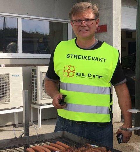 Geir Wamstad under streiken i 2016.