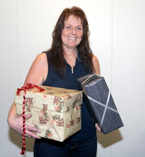 JUBILANT: Solvor Bogen Bakke fra Fiskum fyller 50 år på selveste julaften og kan se fram til å åpne både jule- og bursdagsgaver.