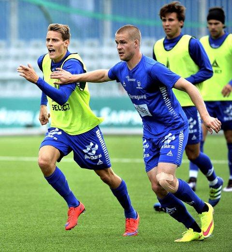 SPILLER: Både Kristoffer Zachariassen til venstre og Henry Toivomäki er klare mot Mjøndalen i dag. Foto: Jarl Morten Andersen