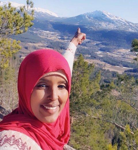 DIPLEMYRNATTEN: Her er Sahra Hagi på Diplemyrnatten i Sauland, som er en av Turbo-turene.