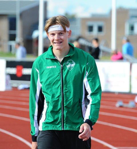 PÅ LANDSLAGET: Ole Jakob Solbu Høstland har fått en gladmelding på tampen av et stort friidrettsår. Han er nemlig tatt ut på neste års U 20-landslag.