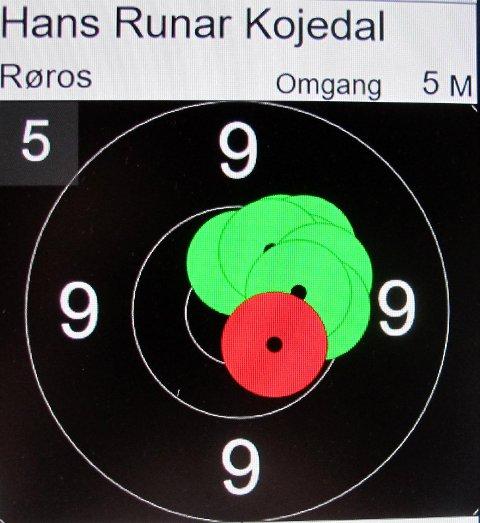 God samling: Er du god nok kan sjøl en litt skakk omgang gi 100 poeng. Men da må du være god slik som Hans Runar Kojedal i Dalsbygda der han ble nr. 2 med sterke 346.