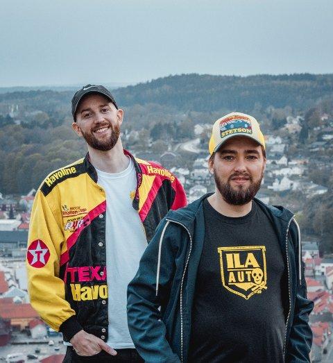 NY MUSIKK: Olav og André  startet å rappe sammen på ungdomsskolen. I dag har de flere låter på hitlistene.