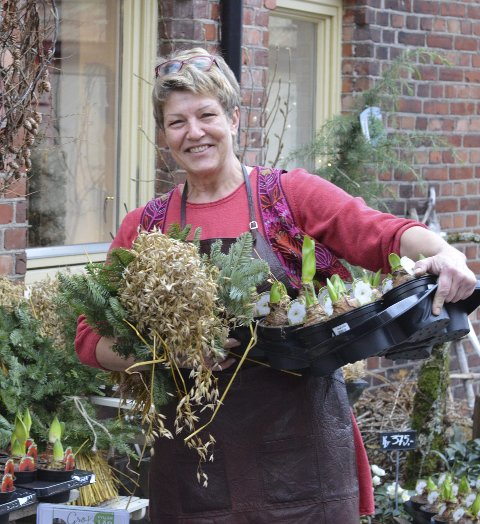 DRØM: Å starte egen blomsterbutikk i Storgata 21 var en drøm som ble til virkelighet for Gro Flåten.