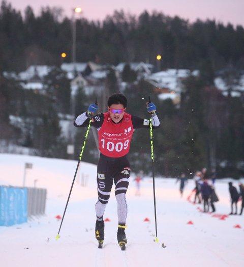 3. PLASS: Petter Stokkeland staket seg inn til tredjeplass i Hafjell Skimaraton.