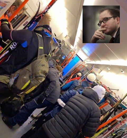 Reagerer: Daniel Bjarmann-Simonsen mener det er urettferdig at folk får stå som sild i tønne på tog i Oslo, mens en hel næring i nord lider som følge av et generelt skjenkeforbud.