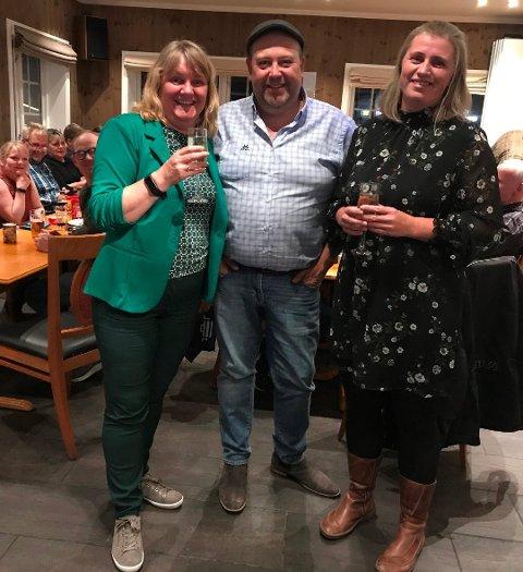 Monika Sande, Andre Kristoffersen og Marit Moldjord representerer Sp i Beiarns kommunestyre de neste fire årene.