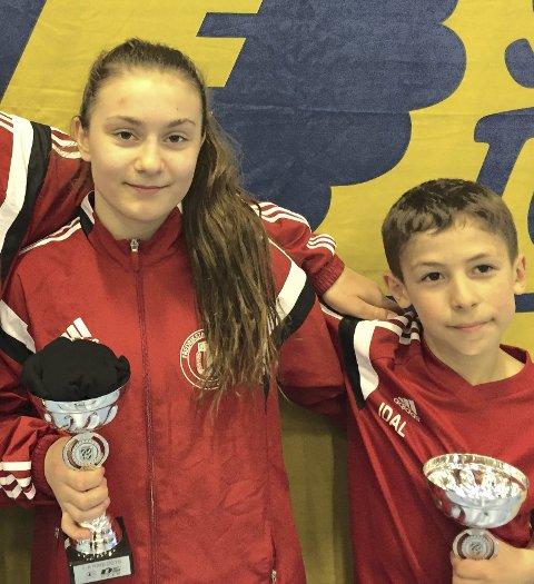 SEIRET: Othelie Høie og Idal Timirbiev fra BK Atlas gikk begge til topps i Kolbotn Cup.