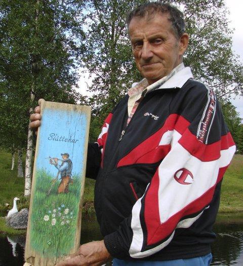 Trysilmester: Sigmund Sætre er regjerende trysilmester, og fikk i tillegg en plakett til minne om sin bror, Pål.