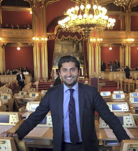 Motivert: Himanshu Gulati er klar for fast plass på Stortinget. Foto: Privat