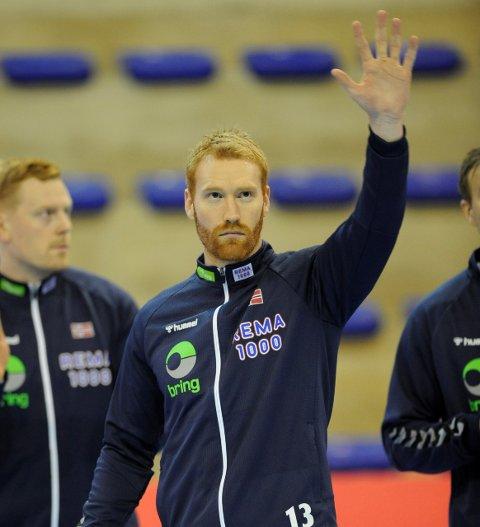 NY TILLIT: Erik Thorsteinsen Toft fikk sin første A-landskamp i fjor. Nå har Christian Berge tatt ut elverumsingen, som til daglig spiller i Danmark, på nok et landslagsoppdrag.