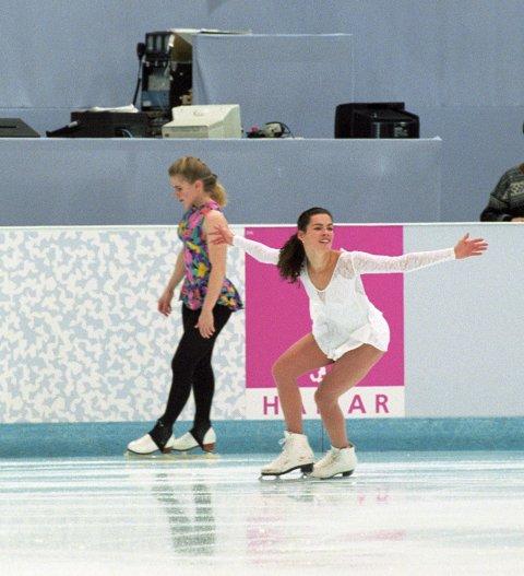HUSKER DU? Dramaet rundt de amerikanske kunstløperne Tonya Harding (t.v.) og Nancy Kerrigan skapte voldsomt oppstyr under Lillehammer-OL i 1994.
