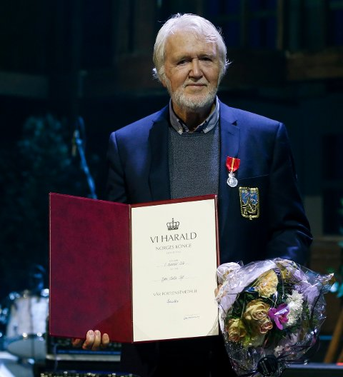 HEDRET: Bjørn Toft mottok Kongens fortjenstmedalje.