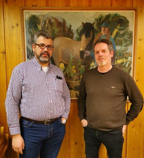 Ordførerkandidat Anders Nyhuus og Morten Olesen Lutnæs, leder Trysil Høyre.