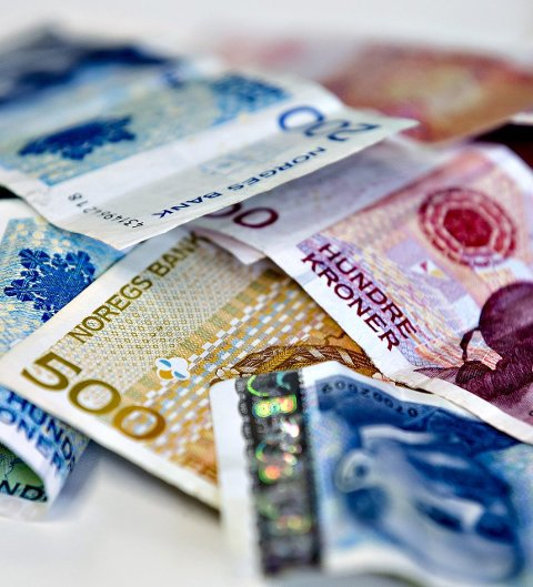 OSLO  20130714.Illustrasjonsbilder av økonomisk kriminalitet, hvitvasking av penger. Pengesedler.Foto: Stian Lysberg Solum / NTB scanpix