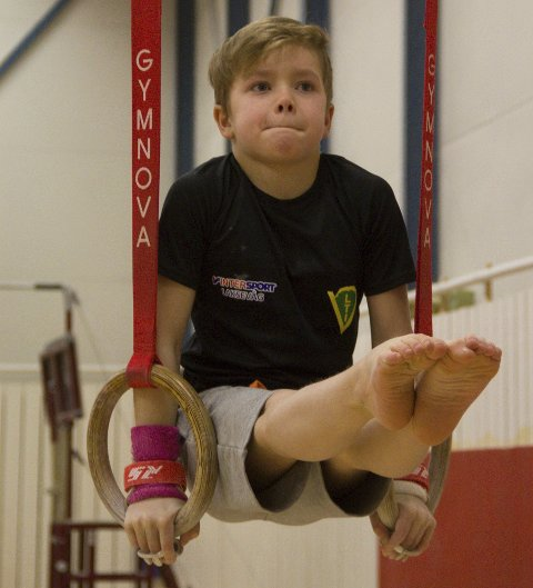 RINGENES HERRE: Høgt nivå på ring-øvinga til Phillip Sandviken Lieske. Alle foto: Magnar Taule