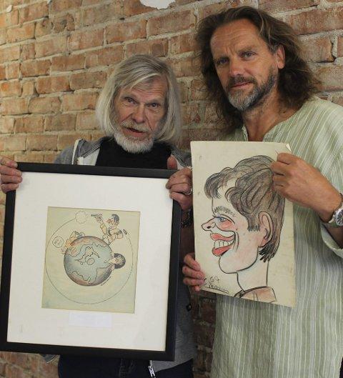 Politisk kunst: Sigbjørn Eliassen og Thomas Bakkerud skal vise sterkere kunst i Kragerø.