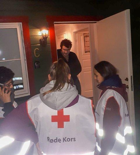 BANKET PÅ: Over 100 husstander i Ås hjalp Vestby og Ås Røde Kors med å gjøre det svært realistisk å øve på kriser og katastrofer.