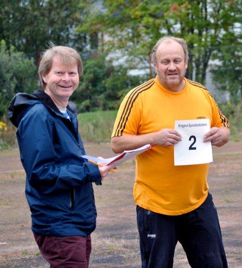 Arvid Henriksen og Ørnulf Klausen. Arkivfoto: