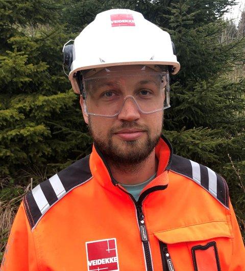 Steinkjerbyggen Kjell Otto Bragstad (36) er direktør for Veidekke Infrastruktur.