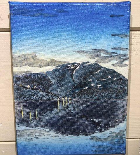 Oksen: Fjell og landskap som inspirerer Felicitas Aga.  Alle foto: Mette Bleken