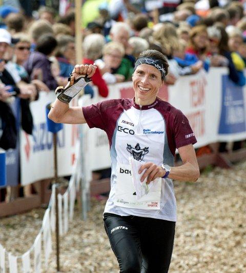 SÄLEN, SVERIGE 20160729.Anne M Hausken Nordberg. Norge, kom på andreplass under O-ringen i fjellterrenget i Sälen fredag.Foto: ULF PALM / TT / NTB scanpix