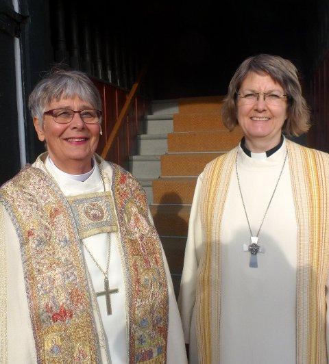 Rådet: Hvem biskop Solveig Fiske (tv.) får med seg i Hamar bispedømmeråd blir først klart fredag.