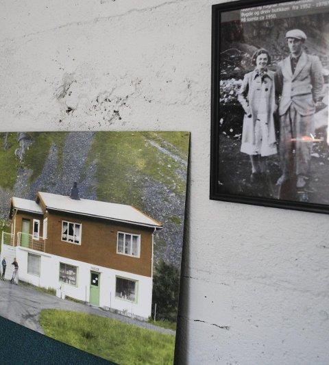 Gamle dager: Historien er også på veggene med bilder av butikken i gamle dager og drivere.