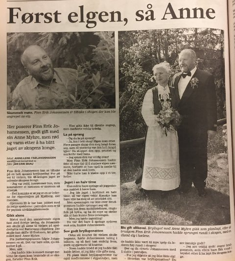 Artikkelen med Finn-Erik Johannessen ble presentert over en helside i Fredriksstad Blad 8. juni 2000.