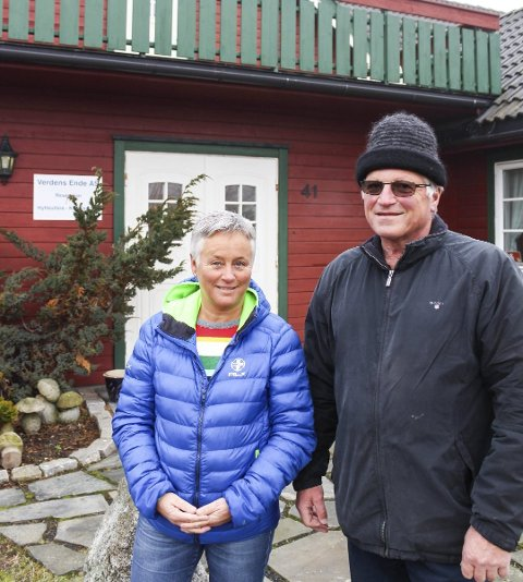 TO CAMPINGER: Sigmund Arnesen tjente mest og hadde høyest formue blant aktørene innen hotell- og campingbransjen i Færder i fjor. Sammen med kona Eva driver han Mostranda- og Verdens Ende Camping.