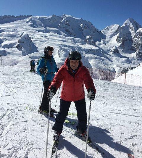 I Dolomittene: Kjell Lunde reiste på skiferie til Italia for kort tid siden. Nå sitter han i hjemmekarantene.