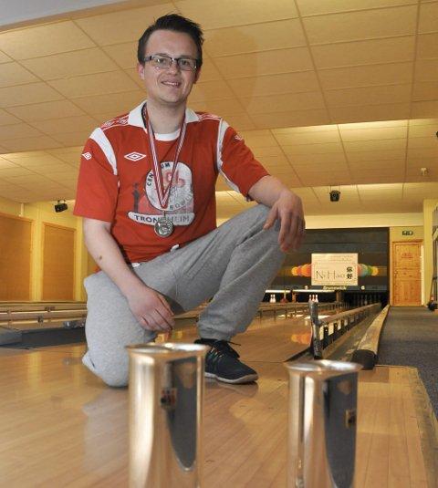 Norgesmester: Christer Jakobsen fra Svolvær ble norgesmester sammen med lagkameratene i Trondheim Bowlingklubb. Arkivfoto